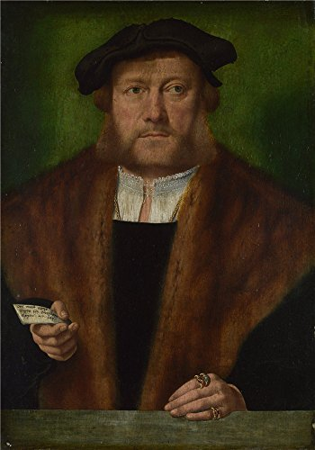 Oil Painting 'Bartholomeus Bruyn The Elder - A Man, Probably Of The Strauss Family, About 1534' 30 x 43 inch / 76 x 109 cm , on High Definition HD canvas prints, Basement, Laundry Room, Living decor
