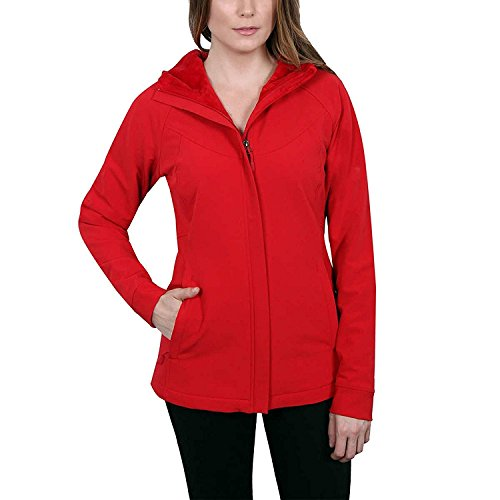 (Kirkland Signature Ladies' Water-Repellent Wind Resistant Softshell Jacket (Medium, Red))