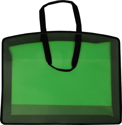 Filexec Carry All Bag, In-Side Pocket, Business Card Slot, Zippered Closure, 21''x27'', Green (34965) by Filexec