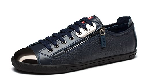 Men's OPP Lace Leather Casual 6568 in Shoes up 2blue zqZqBd