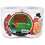 BigMouth Inc Happy Holidays Toilet Paper, 2-Pack