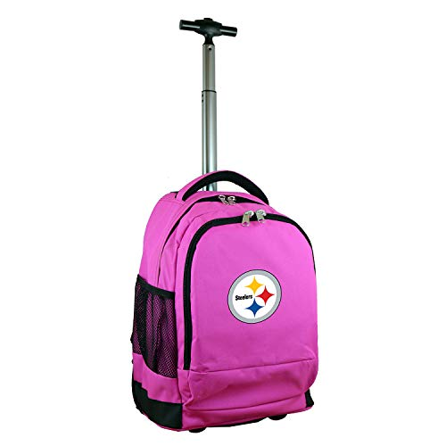 - Denco NFL Pittsburgh Steelers Expedition Wheeled Backpack, 19-inches, Pink