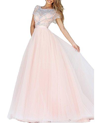 Linea Cristallo Bonbete Elegante Rilievo Rosa Rosa Da Vestito Rosso Lungo Delle Abito Prom Donne In Sera In Tulle Del xOOWP7n