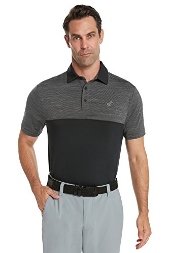 Jolt Gear Dri-Fit Mens Moisture Wicking Two-Tone Polo Cleaning Shirt - front