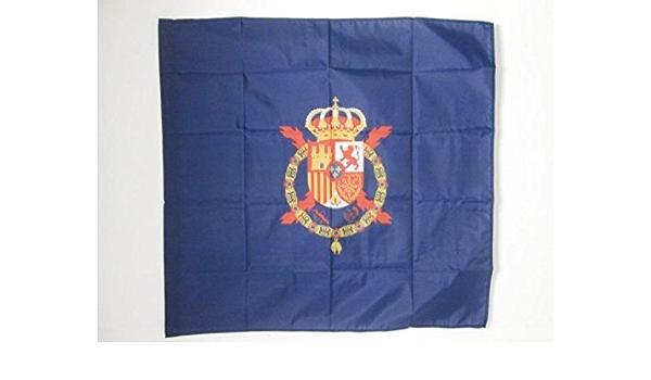 AZ FLAG Bandera del ESTANDARTE del Rey Juan Carlos I DE ESPAÑA 90x90cm para Palo - Bandera Real DE ESPAÑA 90 x 90 cm: Amazon.es: Hogar