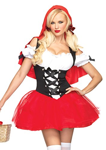 Leg Avenue Women's Racy Red Riding Hood Costume, Red/Black, Medium/Large -