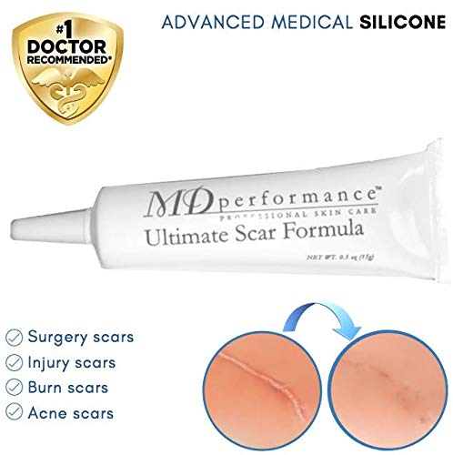 Ultimate Scar Formula - MD Performance Advanced Silicone Scar Removal Gel - For Surgical, Traumatic, Burn, Acne and C Section Scars (15 g)