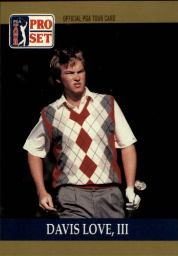 1990 Pro Set PGA Golf #56 Davis Love III RC (Pga Card Golf)