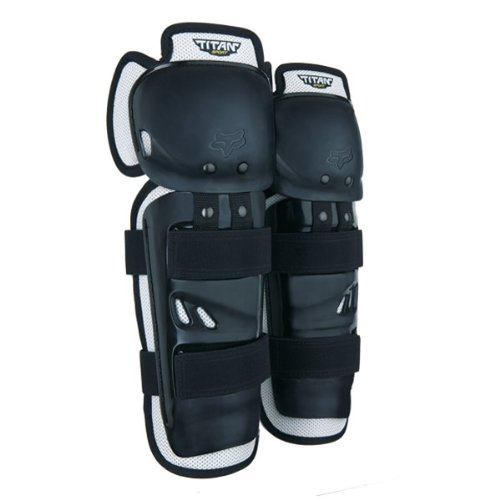 Fox 2014 Youth Titan Sport MX Knee/Shin Guard - 04275 (Black - ONE SIZE)