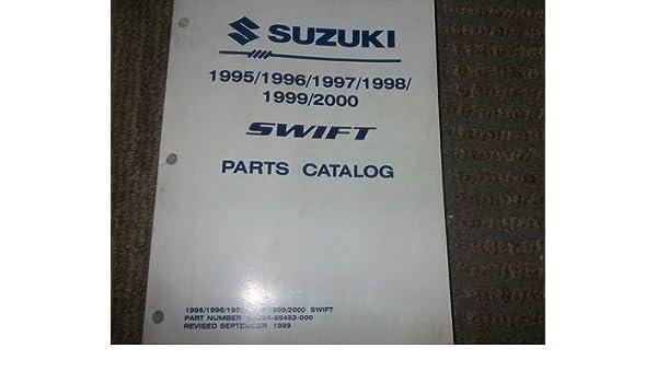 1995 1996 1997 1998 1999 2000 SUZUKI SWIFT Parts Catalog Book Manual