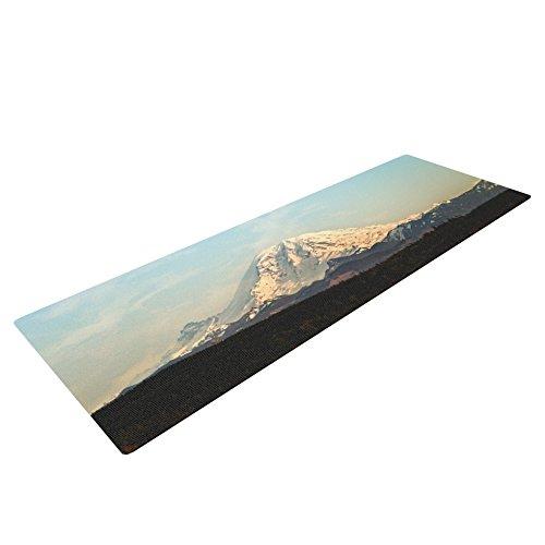 Kess InHouse Sylvia Cook Mt. Rainier Yoga Exercise Mat, Mountain Photo, 72 x 24-Inch