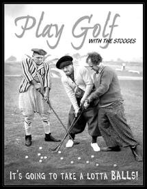 s 3 Stooges Lotta Balls Collectible Metal Sign , 13x16 (Sports Metal Art)