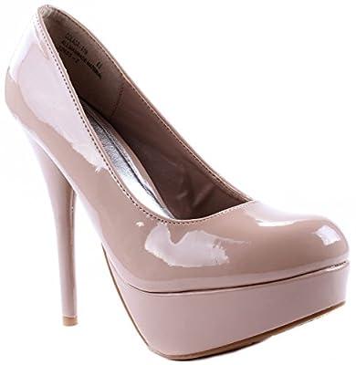 Bamboo Women's Shoes Colada-01N Stillettos Heel Slip On Pumps