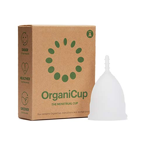OrganiCup Menstrual Cup - Reusable Period Cup - Size A/Small - FDA Approved - Pad and Tampon...