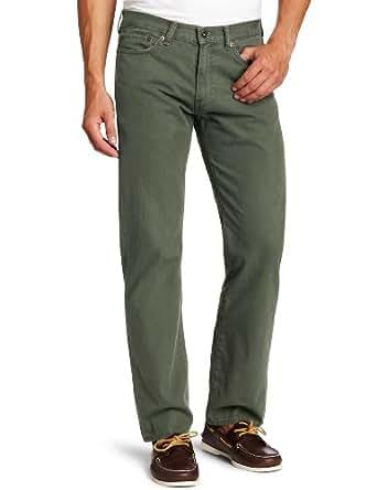 Dockers Men's 5 Pocket Khaki D3 Classic Fit Flat Front Pant, Rifle Green Heritage Wash, 31x30