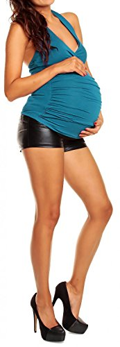 Donna top maternity Prémaman shirt elasticizzato Acqua Mama T Happy jersey 167p 5n8Z0Owxq