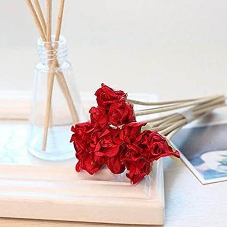 10pcs Artificial Scented Rattan Reeds Fragranc Plant DIY Home Living Room Decor
