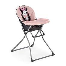 Hauck Mac Baby trona de mesa, diseño Disney, para bebes a partir de 6meses a 15kg, bandeja para comida con molde para vasos, plegado facil y comodo, rosa