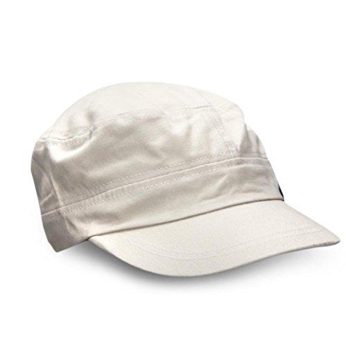 Fashion Unisex Flat Roof Military Hat Cadet Patrol Bush Hat Baseball Field Cap (Gray)