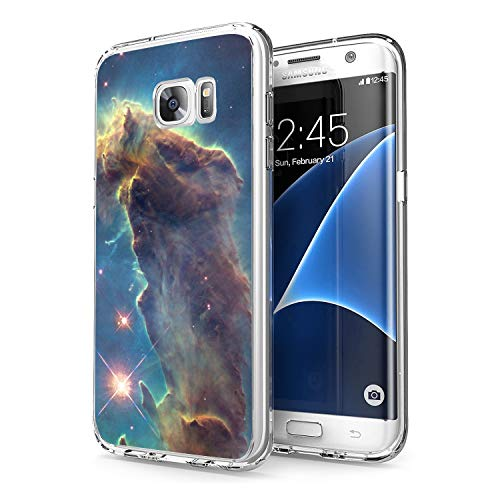 Owa UV Printing Case for Samsung Galaxy S7 Edge, Shock-Absorption Bumper Cover, Anti-Scratch Clear Back, HD Clear - Outer Space