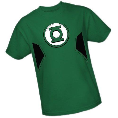 New Green Lantern Costumes Tshirt (Green Lantern Costume -- DC Comics - The New 52 Adult T-Shirt, Large)