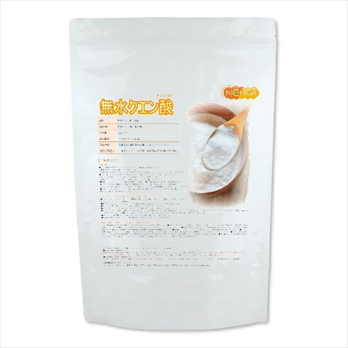 無水クエン酸 1kg 食品添加物規格(食品) 純度99.5%以上 チャック式アルミ袋 [01]