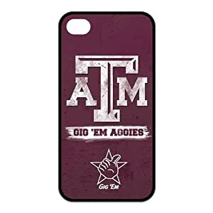 Pink Ladoo? NCAA Texas A&M ATM Aggies Logo for Iphone4/4s Best Cover Case-Creative New Life