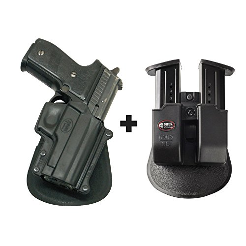 Fobus SG-229 Paddle Smart Conceal Concealed Carry Holster Sig/Sauer P229, 228 without rails + 6909 ND Double Magazine Pouch