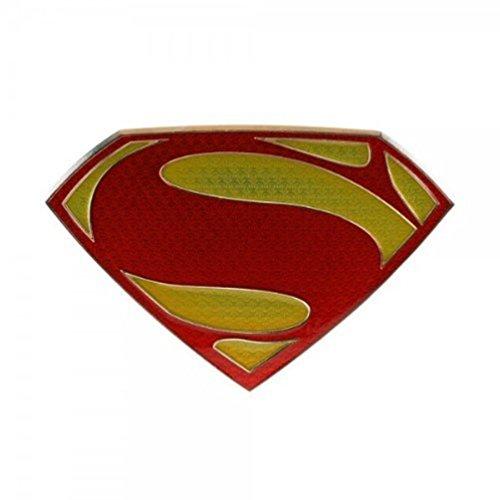 [Man of Steel Logo Belt Buckle (Red & Yellow)] (Superman Fashion Belt)