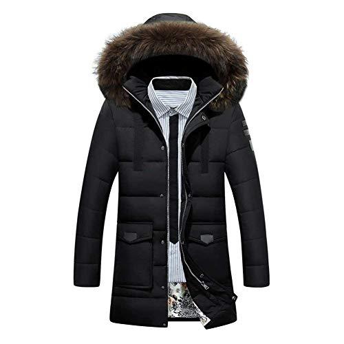 Winter Fit Slim Detachable Coat Winter Parka Winter Men's Parka Outwear Coat Schwarz Coat Hood Hooded Outdoor Jacket Jacket Apparel Jacket 8qYO0nWpnv