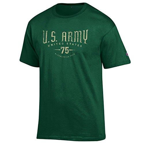 Champion Men's USA Military Collection Cotton T-Shirt-US Army- Vintage EST 1775-Dark Green-XXL