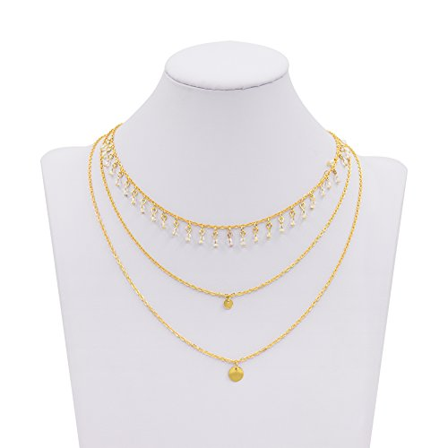 Boosic Adjustable Choker Imitation Pearl Necklace
