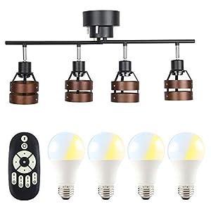 共同照明 シーリングライト 4灯 6畳 8畳 北欧 スポットライト 天井照明 GT-DJ-2DB-9WT-2