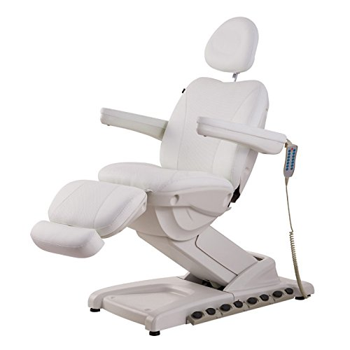 BEAUTY SALON SPA FULL ELECTRICAL 4 MOTOR FACIAL BEAUTY BED DOCTOR TATTOO MEDICAL PODIATRY CHAIR WITH THERMAL HEATED SEATS – APOLLO WHITE
