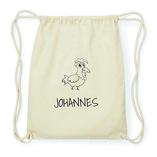 JOllipets JOHANNES Hipster Turnbeutel Tasche Rucksack aus Baumwolle Design: Hahn