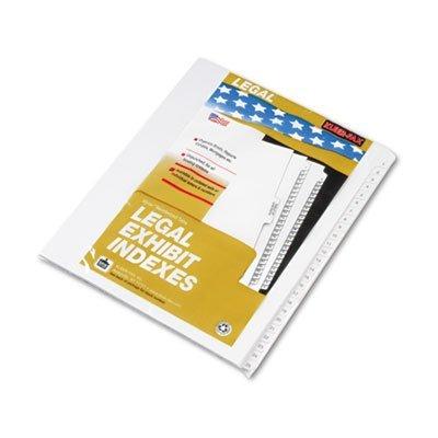 Kleer-Fax 91901 90000 Series Legal Exhibit Index Dividers, K