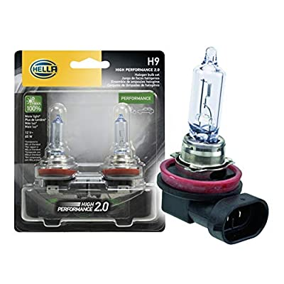 HELLA 2.0TB HP2.0-65W High Performance H9 Bulbs, 12V, 65W, 2 Pack: Automotive