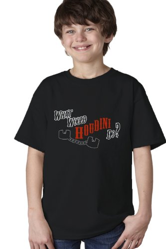 WHAT WOULD HOUDINI DO? Youth T-shirt / Magic Fan Card Trick Tee Shirt