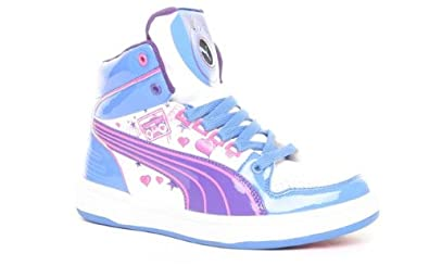 puma shoes for girls blue. puma dj ss12 girls hi-tops trainer - blue/pink/white size 6: amazon.co.uk: shoes \u0026 bags for blue d