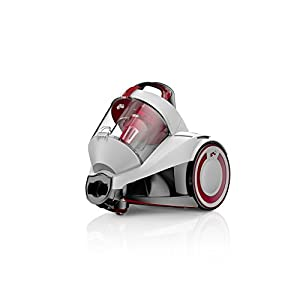 Dirt Devil DD2224-0 Rebel 24 HE Aspirateur sans Sac Cyclonique Blanc/Rouge