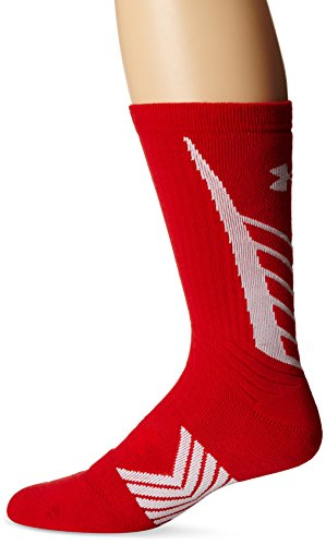 Rosso Wht pour Red Homme Sport Youth de Crew Armour UA Under Undeniable Chaussettes x87vUT