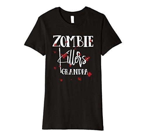 Woman Zombie Killer Costume (Womens Halloween Costume Zombie Killers Grandpa Bloody T-Shirt XL Black)