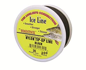 Braided Nylon Tip Up Line 20# Test/200 Yard Spool/Black