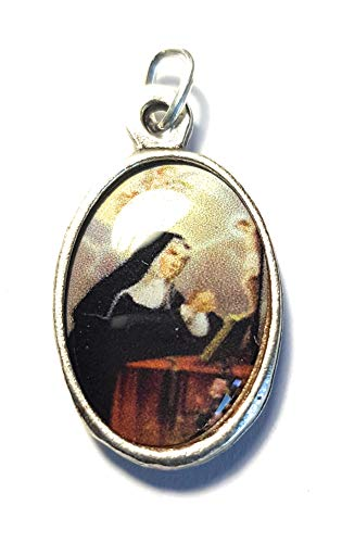 relic medal 3rd Class of Saint Rita of Cascia Patron of Lost & Impossible Causes, Sickness, Wounds, Marital Problems, Abuse, Mothers Santa Rita de Casia Causas imposibles, problemas maritales (Oval)