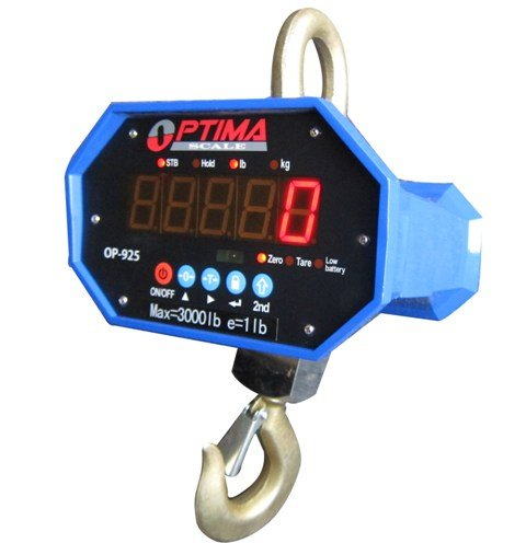 Optima Scales OP-925A-20000 Heavy-Duty Crane Scale - 20000 lbs x 10 lb. LED Display