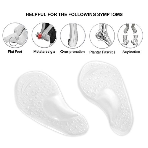 Arch Support for Flat Feet & Plantar Fasciitis, Gel Shoe Inserts Relieve Foot Pain for Women & Men (2 Pairs) by Gilife (Image #2)