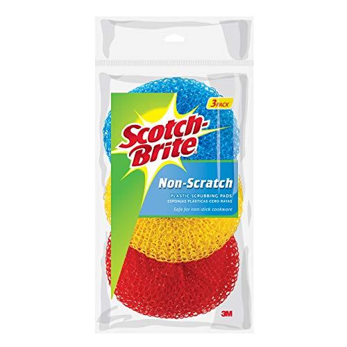 Scotch-Brite Non-Scratch Plastic Scrubbing Pads, 3 Count