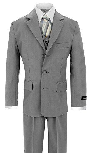 (Johnnie Lene Little Boy's Formal Dress Suit JL5016 (6, Silver)