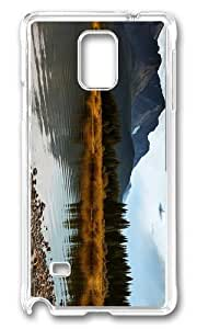 MOKSHOP Adorable lake alberta canada Hard Case Protective Shell Cell Phone Cover For Samsung Galaxy Note 4 - PC Transparent