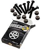 Sector 9 Black Longboard Skateboard Hardware Set - 1 1/2 8pcs